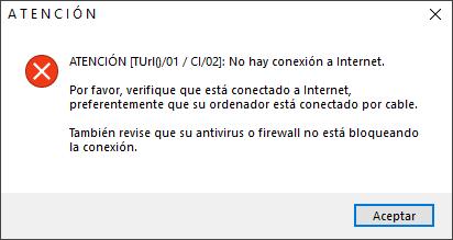 CI/02 conexión a internet no disponible