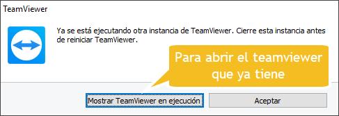Mostrar TeamViewer en ejecución