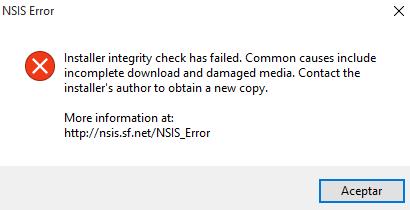 NSIS Errror