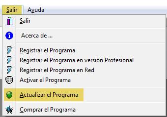 Actualizar software IDESOFT, paso 1
