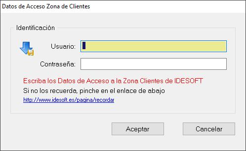 Actualizar software IDESOFT, paso 3