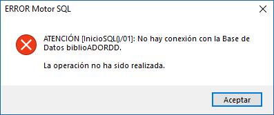 opac internet aviso motor sql inicio sql 01 no hay conexión con la base de datos