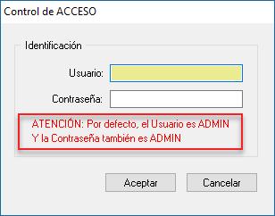 control de acceso programas idesoft requiere clave de usuario con contraseña