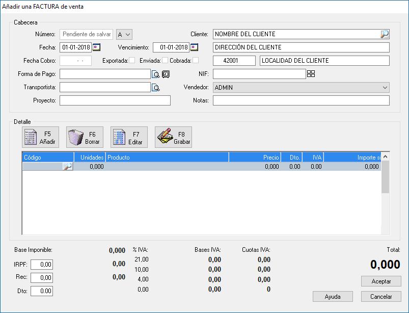 Como hacer una factura con el programa de facturación y gestión xl