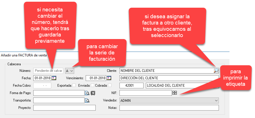 Como hacer una factura con el programa de facturación y gestión xl: personalizar la cabecera