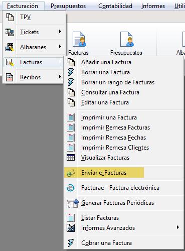 Enviar facturas por e-mail en PDF e-factura