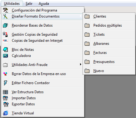 Personalizar diseño formato documentos facturación