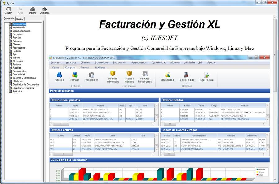 Manual de ayuda programa Facturación y Gestión XL
