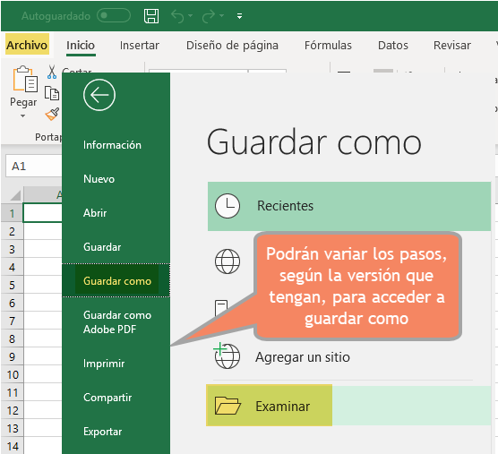 excel guardar como